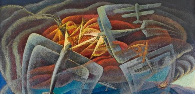 futurism_aeropittura_dottori_aerial_battle_over_the_gulf_of_naples